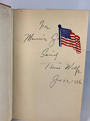 The Story of a Novel SIGNED: Thomas Wolfe