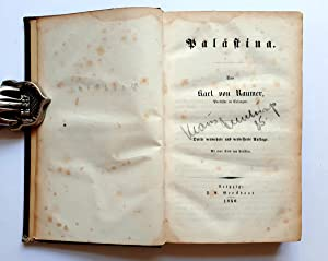 Palästina - orig. Ausgabe von 1850 mit: Raumer, Karl von