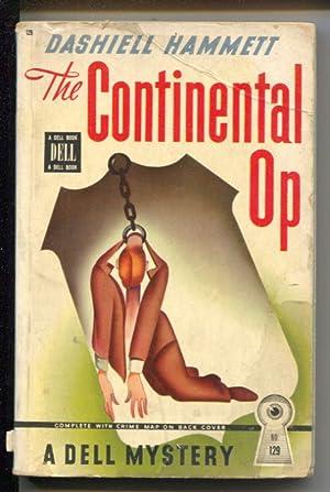 Continental Op #129 1946-Dell Mapback-Dashiell Hammett-hardboiled pulp