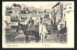 Carte postale Angles, Un Muletier en une