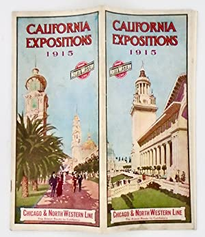 """CALIFORNIA EXPOSITIONS 1915"" ORIGINAL RR PAMPHLET"