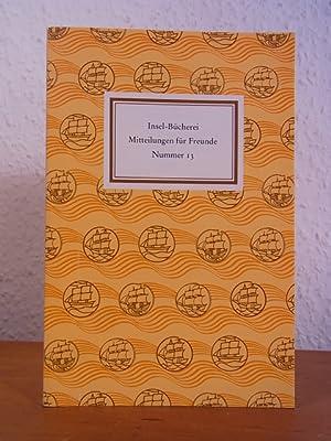 Insel-Bücherei. Mitteilungen für Freunde. Nummer 13, März: Lengemann, Jochen (Hrsg.):