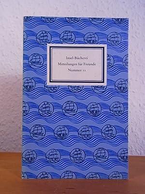 Insel-Bücherei. Mitteilungen für Freunde. Nummer 11, März: Lengemann, Jochen (Hrsg.):