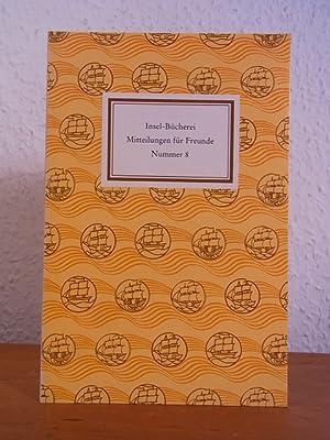 Insel-Bücherei. Mitteilungen für Freunde. Nummer 8, September: Bühler, Hans-Eugen und