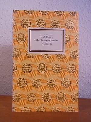 Insel-Bücherei. Mitteilungen für Freunde. Nummer 19, März: Lengemann, Jochen (Hrsg.):