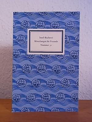 Insel-Bücherei. Mitteilungen für Freunde. Nummer 31, Herbst: Platthaus, Andreas, Nora