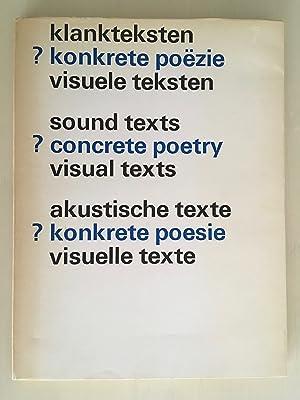 klankteksten ? konkrete poëzie / sound texts: Liesbeth Crommelin /