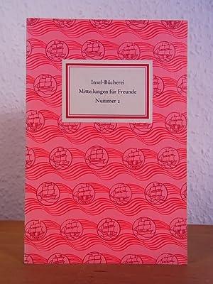 Insel-Bücherei. Mitteilungen für Freunde. Nummer 2, September: Bühler, Hans-Eugen und
