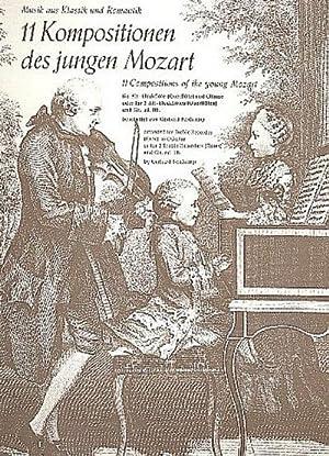 11 Kompositionen des jungen Mozartfür Altblockflöte (Flöte): Wolfgang Amadeus Mozart
