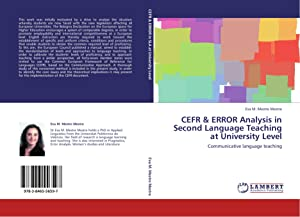 CEFR & ERROR Analysis in Second Language: Mestre Mestre, Eva