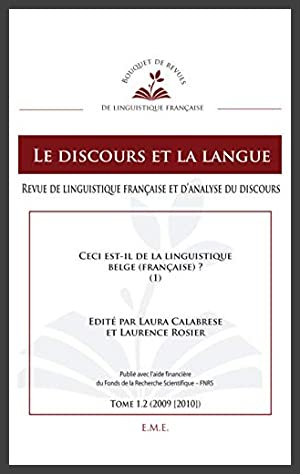 Le Discours et la Langue Ceci Est