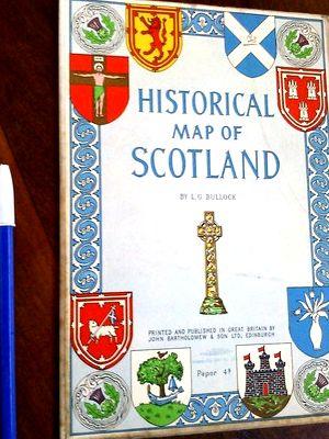 Libro historical map of scotland bullock referencias: L. G. Bullock