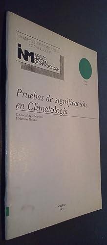 Pruebas de significación en climatología: GARCÍA LEGAZ MARTÍNEZ,