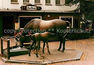 Postkarte Carte Postale 73662581 Wickrath Moenchengladbach Pferdebrunnen