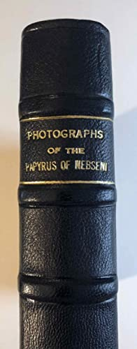 Photographs of the papyrus of Nebseni in: AAF - Museum