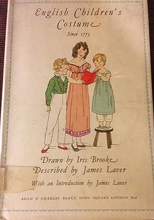 English Children's Costume Since 1775: James Laver, drawn