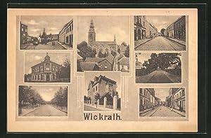 Ansichtskarte Wickrath, Strassenpartien mit Strassenbahn