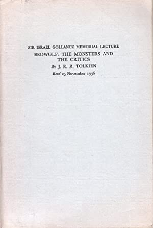 Beowulf: The Monsters and The Critics.: Tolkien, J. R.