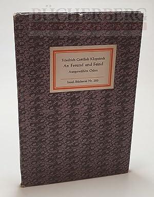 Bild des Verkäufers für An Freund und Feind. Ausgewählte Oden zum Verkauf von Bücherberg Antiquariat