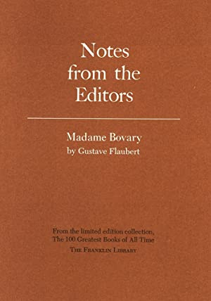 Image du vendeur pour Notes from the Editors. Madame Bovary - Gustave Flaubert mis en vente par D&D Galleries - ABAA