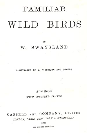 Familiar Wild Birds: Swaysland W