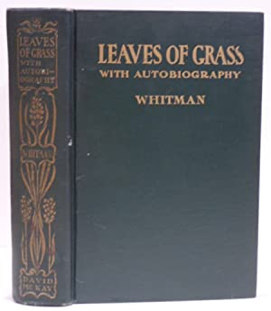LEAVES OF GRASS WITH AUTOBIOGRAPHY: Including a: WHITMAN, WALT