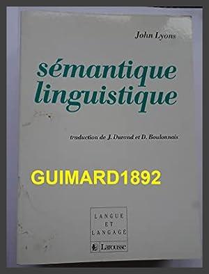 Sémantique linguistique