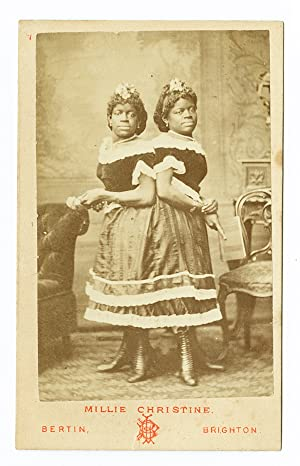 [CARTE DE VISITE PHOTOGRAPH OF MILLIE CHRISTINE BY BERTIN OF BRIGHTON, ENGLAND]