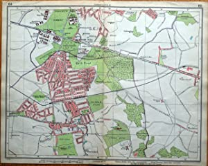 WOOLWICH, ELTHAM,AVERY HILL Original Vintage London Street Plan Antique Map 1925