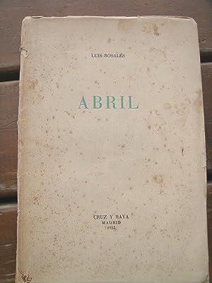 Imagen del vendedor de ABRIL. a la venta por Cabalgando en un Silbido