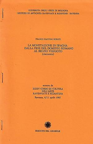 La monetazione in Spagna dalla fine del: Panvini Rosati F.