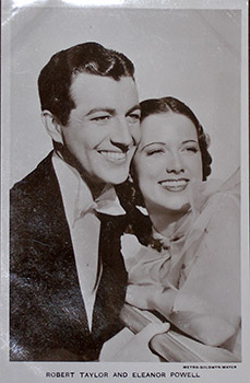 Robert Taylor and Eleanor Powell. (Scene from the motion picture