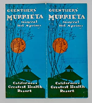 1927 GUENTHER'S MURRIETA HOT SPRINGS (CALIFORNIA) BROCHURE; Mineral Hot Springs