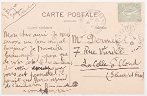 Georges Braque's Signed Autograph Postcard to Paul Dermée