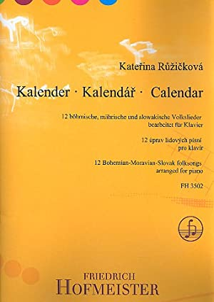 Kalender - 12 tschechische, mà ¤hrische und slowakische: Ruzickovà ¡, Katerina