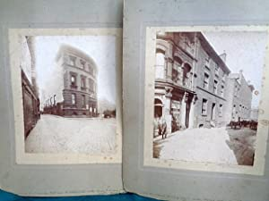 Old County Court, High St, Manchester, TWO large sepia photographs on card. 10th July 1895 at 8.30am
