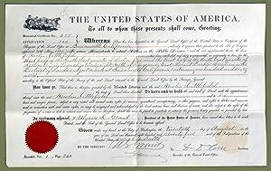 Secretarial Signed Land Grant: Grant, Ulysses S.