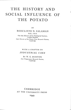 The History and Social Influence of the: Salaman, Redcliffe N.
