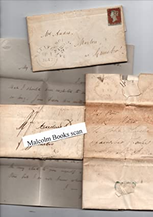 collection of 9 envelopes/letters to Mrs. Audas (wife then widow of Captain John Audas ) at Morto...