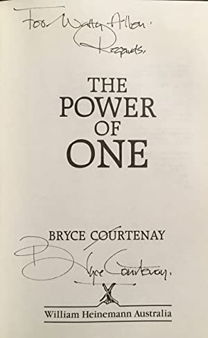 SIGNED) The Power of One (TRUE FIRST: Bryce Courtenay