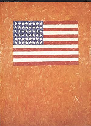 """JASPER JOHNS Flag On Orange Field 27"""": Johns, Jasper"""