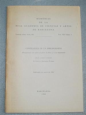 Contrastes De La Bibliografía. Divagaciones En Torno: Brugalla, Emilio