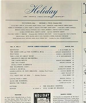 The Good Lion / The Faithful Bull in Holiday Magazine: Hemingway, Ernest