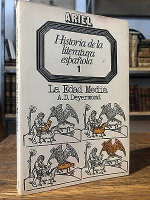 Historia de la literatura española 1. La: DEYERMOND, A. D.
