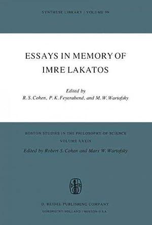 Essays In Memory Of Imre Lakatos: Cohen, Robert S.