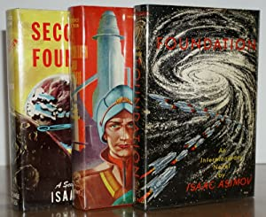 THE FOUNDATION TRILOGY (Signed By Asimov on a Laid in Signature), Foundation, Foundation And Empi...