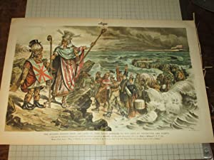 "1888 Judge Lithograph of ""The Modern Exodus: Victor"