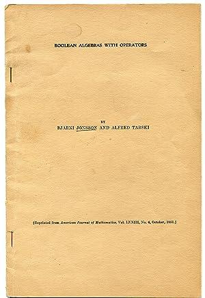Boolean Algebras with Operators', pp. 891-939 in: JONSSON, Bjarni and