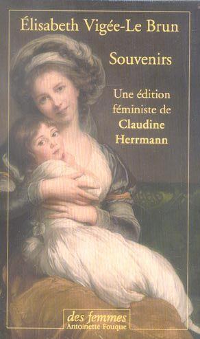 souvenirs: Vigee Le Brun,