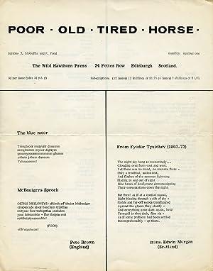 Poor. Old. Tired. Horse. [P. O. T.: Finlay, Ian Hamilton